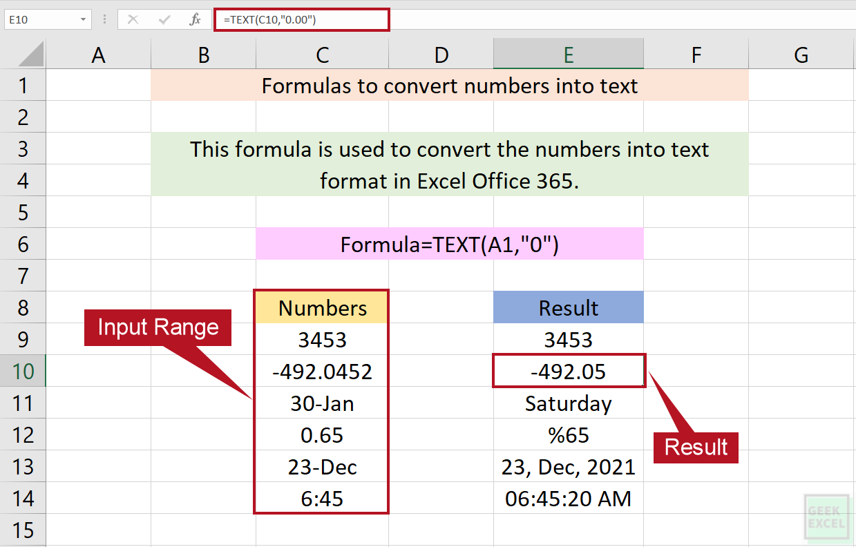 Excel Formulas to Covert Numbers into Text ~ A Complete Guide